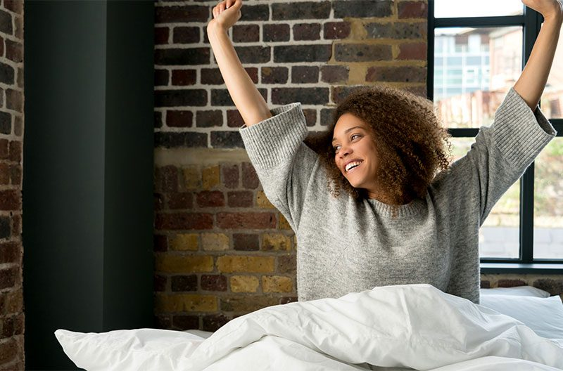 No Credit Mattress Leasing -Woman in Bed
